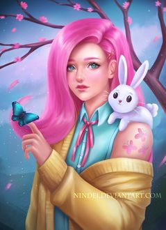 Фото Флаттершай / Fluttershy из мультсериала Мои маленькие пони: Дружба — это чудо / My Little Pony: Friendship is Magic, by Nindei