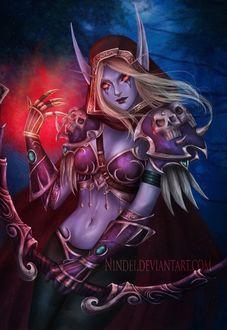 Фото Sylvanas Windrunner / Сильвана Ветрокрылая из игры World of Warcraft, by Nindei