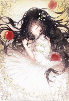 Фото Белоснежка в окружении яблок из сказки Белоснежка / Snow White, by gomzi