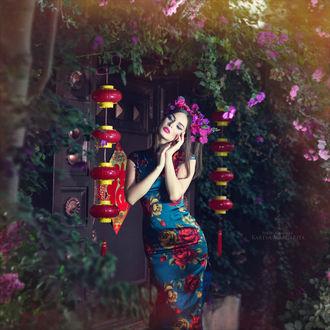 Фото Девушка в цветном платье с венком на голове, фотограф Margarita Kareva