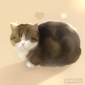 Фото Спящая кошка, by Apofiss