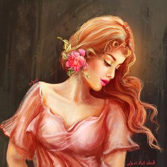 Фото Девушка с розой на голове, by abeer malik