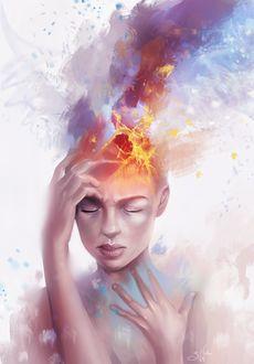 Фото Девушка с разрывающейся головой, by Sandramalie