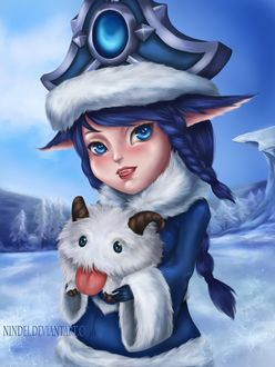 Фото Лулу / Lulu и Поро / Poro из игры Лига Легенд / League of Legends, by Nindei