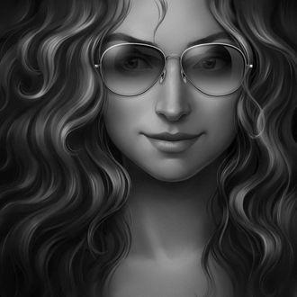 Фото Портрет девушки с волнистыми волосами в очках, by sharandula (© Margo Fly), добавлено: 20.04.2017 20:24