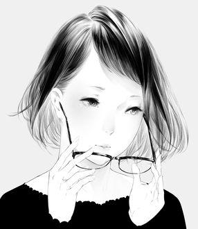 Фото Девушка снимает очки, by 爽々