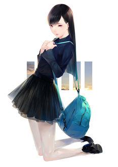 Фото Девушка с рюкзаком, by 爽々