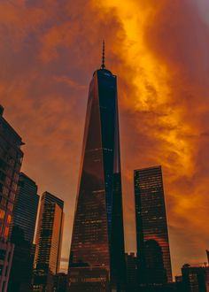 Фото Небоскребы Нью-Йорка под вечерним небом