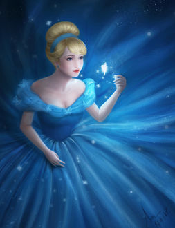 Фото Золушка / Cinderella смотрит на фею, by JiDu276