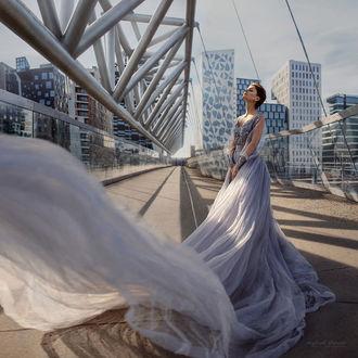 Фото Девушка в длинном развевающемся платье, фотограф Ирина Джуль
