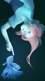 Фото Девочка хочет дотронуться до рыбки, by ELECTRICFAKE
