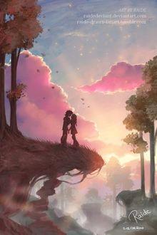 Фото Влюбленные стоят на обрыве, by RaideDeviant
