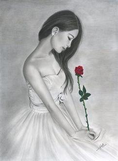 Фото Девушка с красной розой, by iSaBeL-MR