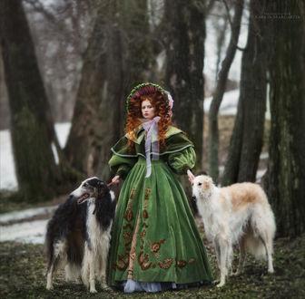 Фото Девушка стоит рядом с собаками, фотограф Margarita Kareva