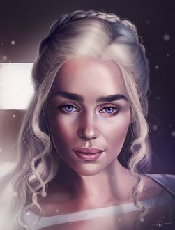 Фото Эмилия Кларк / Emilia Clarke в роли Дэйнерис Таргариен / Daenerys Targaryen из сериала Игра престолов / Game of Thrones, by Sandramalie