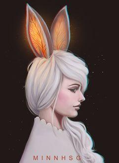Фото Белокурая девушка с кроличьими ушками, by Minnhsg