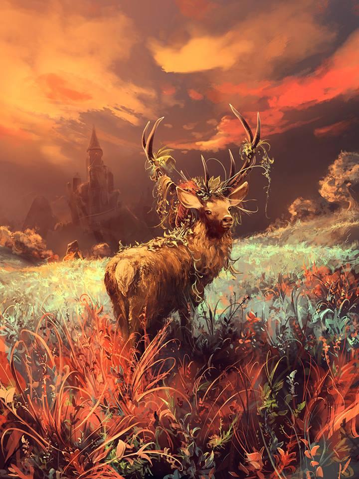 Фото Олень с травой на рогах, by Aquasixio - Cyril ROLANDO