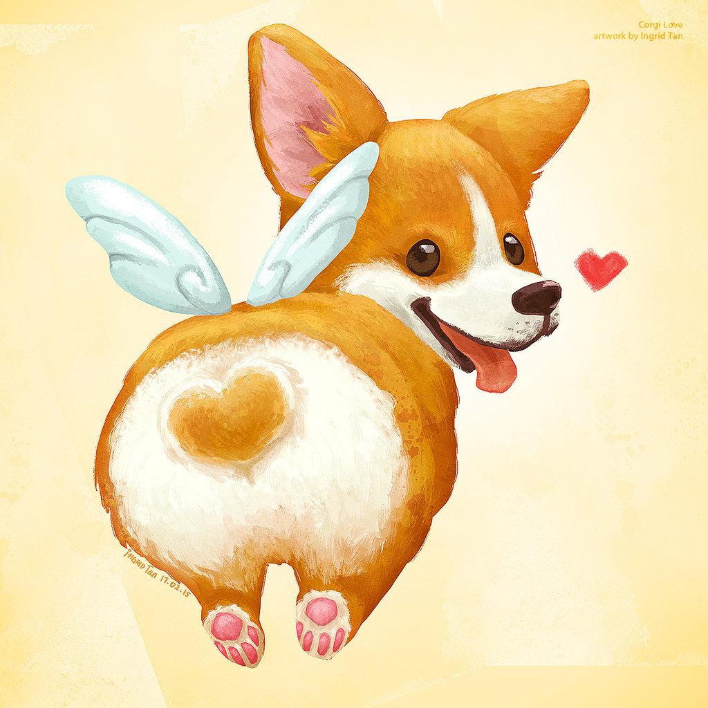 рисунки милые собаки наладить свою