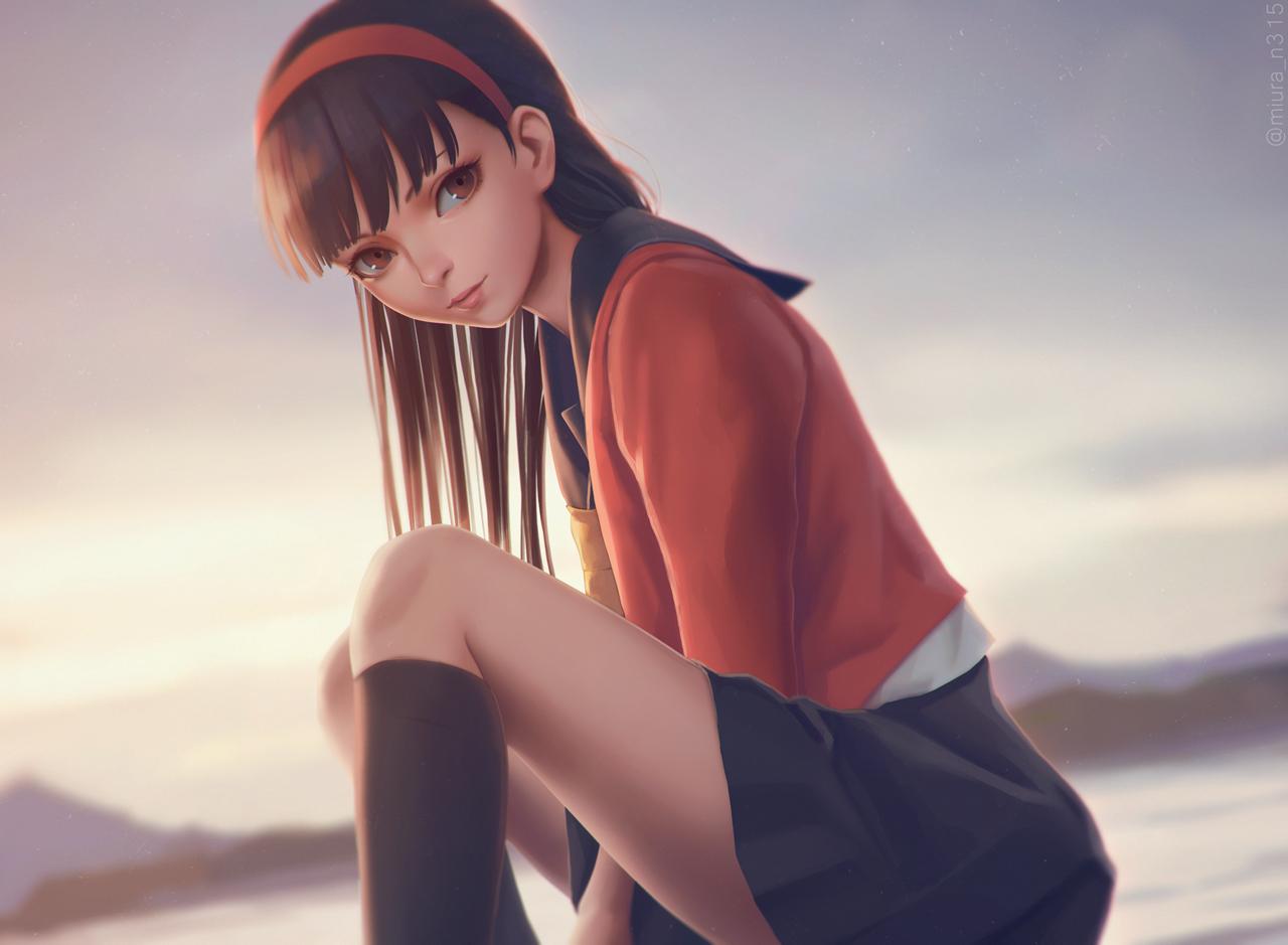 Фото Юкико Амаги / Yukiko Amagi из аниме Персона 4 / Persona 4, by miura-n315