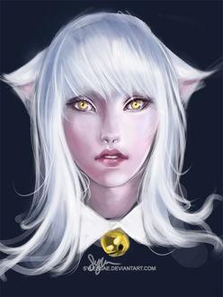 Фото Белокурая девушка-кошка с янтарными глазами, by sylessae