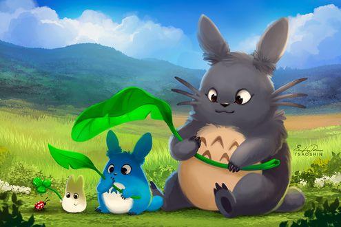 Фото Тоторо / Totoro из аниме My Neighbor Totoro / Tonari no Totoro / Мой сосед Тоторо, by TsaoShin
