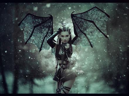 Фото Девушка в образе летучей мыши, by Kryseis-Art