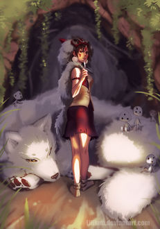 Фото Princess Mononoke / Принцесса Мононоке с волком, by Lillkun