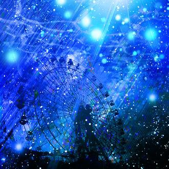 Фото Колесо обозрения на фоне ночного неба