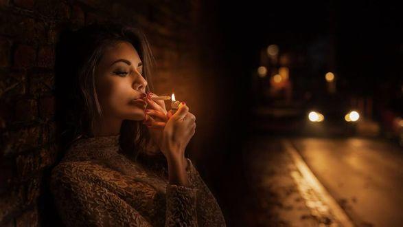 Фото Модель Светлана Грабенко с сигаретой, фотограф Nathan Photography