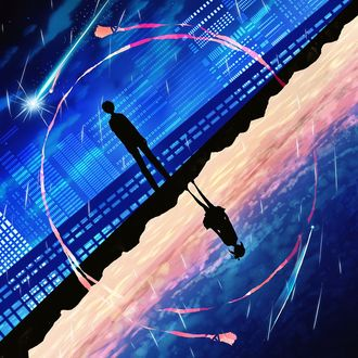 Фото Мицуха Миямизу / Miyamizu Mitsuha и Таки Татибана / Tachibana Taki из аниме Твое имя / Your Name. / Kimi no Na wa, by harada miyuki