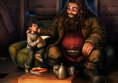 Фото Гарри Поттер / Harry Potter и Рубеус Хагрид / Rubeus Hagrid из фильма Harry Potter / Гарри Поттер, by Kotikomori
