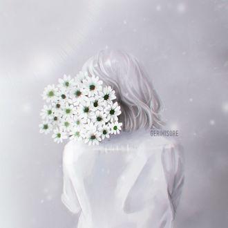 Фото Девушка с букетом цветов, by ririss