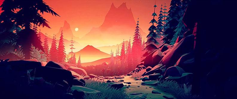 Фото Горы в свете заката