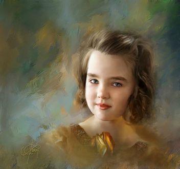 Фото Портрет девочки с серыми глазами, фотохудожник Richard Ramsey