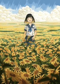 Фото Девушка идет по поляне из подсолнухов, by AGAS0924