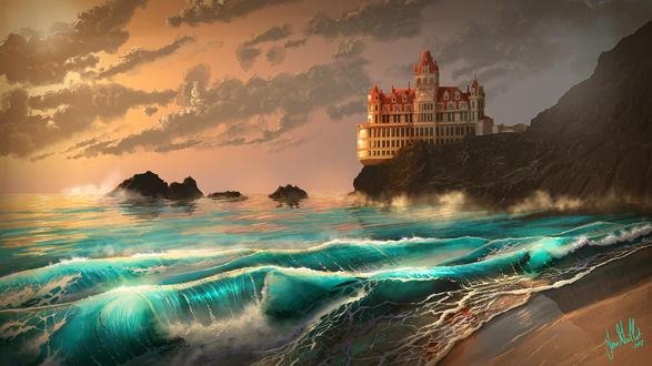 Фото Замок на обрыве перед морем, by chateaugrief