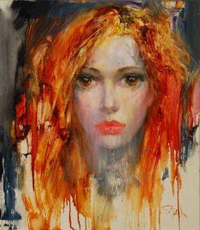 Фото Портрет девушки, литовский художник Stas Sugint