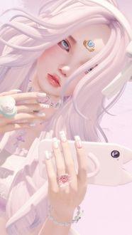 Фото Девушка с телефоном в руке