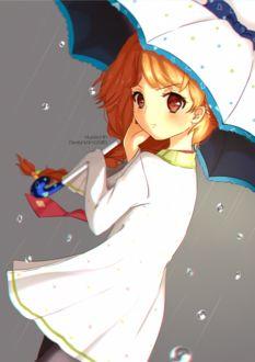 Фото Девочка с зонтом в руках