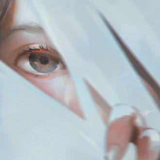 Фото Серый глаз девушки