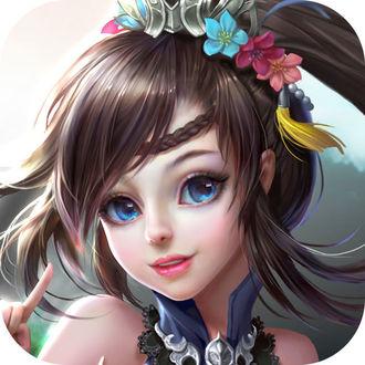 Фото Голубоглазая девушка с цветами на волосах