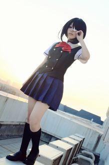 Фото Мисаки мэй / misaki mei / фото / косплей / на крыше / из аниме иная /