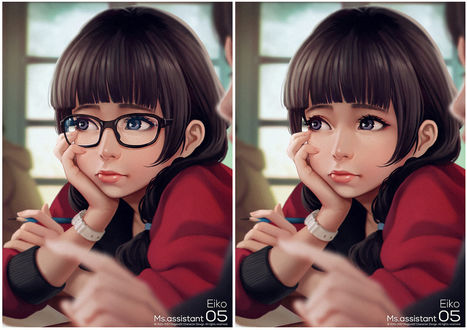 Фото Девушка в очках и без них, by magion02