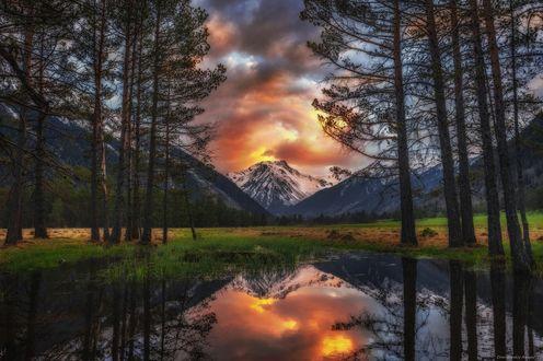 Фото Пламя заката Пшиш, Фотограф Алексей Дранговский
