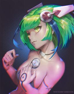 Фото Мира Юризаки / Mira Yurizaki из аниме Измерение W / Dimension W, by redeyehare