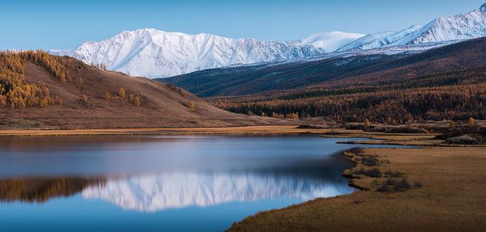 Фото Вечер у озера Джангысколь, Горный Алтай, автор Александр Кукринов