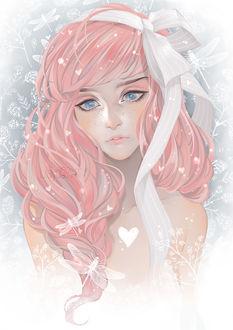 Фото Грустная девушка с розовыми волосами, by luleiya