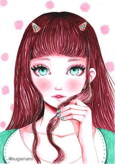 Фото Девушка-демон с бирюзовыми глазами, by Sugar-Nami