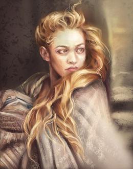 Фото Девушка с золотыми волосами, by Dzydar
