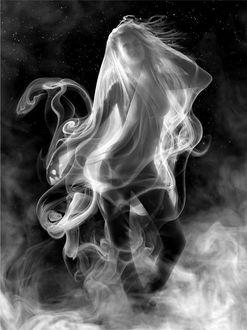 Фото Обнаженная девушка в дыму, фотограф Ethan T. Allen